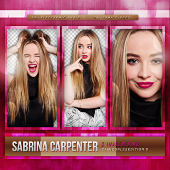PACK PNG 04 / Sabrina Carpenter by CamiCE-Pngs
