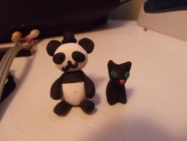 Fancy Panda and Cat by RobertPlantsPants