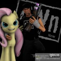 SFM - TF2 - Scout and Fluttershy(o.W.n.) Steam Pic by denisemakar