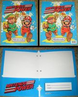 Nintendo Power Mario and Zelda Folder by avaneshop