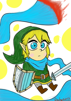 Hyrule warriors: Link by TheRACOONIST