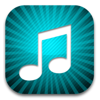 iPhone style music icon by rhubarb-leaf