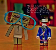 Danbo meets Mad Hatter by marjol3in1977