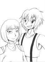 Souma and Merulo (lineart) by 4Wendy