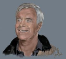 George Peppard Airbrush Style by annieoakley64
