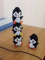 The leaning tower of penguins by DuckEmpress