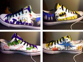 Batman Shoes by jlt0259
