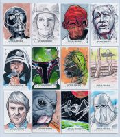 Topps Star Wars Chrome Perspectives Sketch Cards 2 by DarklighterDigital