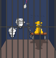 sonic jail base 'request' by LexxArt