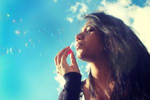 Bubbles and Blue skies by NicoleWilliam