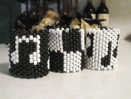 A few Kandi cuffs by DJ-Darc