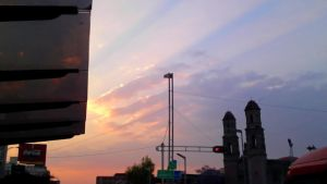 A sunset over the city of mexico 1 by ARLEQUINLUST
