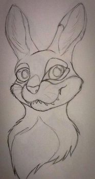 Creepy bunny sketch  by puppykittons