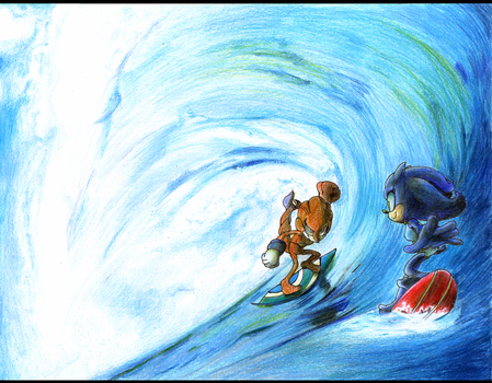 A Heated Race on the Cool Ocean --Commission-- by Dody-Inferno