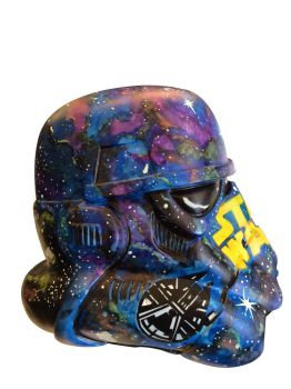 STROM TROOPER VINYL HELMET - right side view by DREWzART