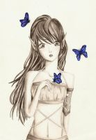 Blue butterfly by adwantic