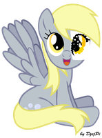 Derpy Hooves with paper eye by DzejPi