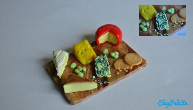 Miniature Cheeseboard by ClayPalette