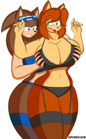 Commission - Jaymi and Superia by Superi90