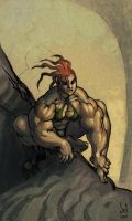 Crouching Lady, Bulging Muscle by Jebriodo