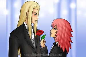 'Accept this rose.' by xochibi