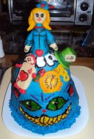 Alice Wonderland Cake by ToughSpirit