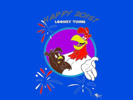 Foghorn leghorn and henery hawk 2015 by frizingaz