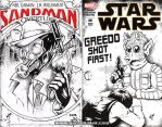 Sandman Greedo cover inks by gb2k