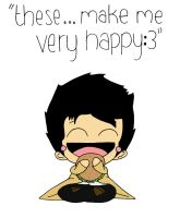 Burgers Make Cas VERY Happy by soldierllama