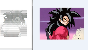 Goku (DragonBall) Ascii Art by Ermac94