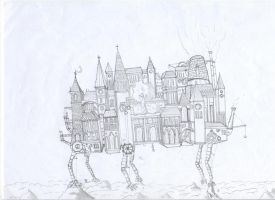 my howl's moving castle by lordoffog