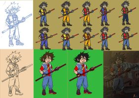 Goku from the hood process by Xavtkd
