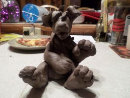 -Cookie Butter Cinnadog Sculpture WIP- by Ruby-Kicks