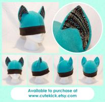 Teal Chocolate Earthy Cat Hat by cutekick