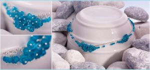 Neon Apatite Cluster Necklace by Sarahorsomeone