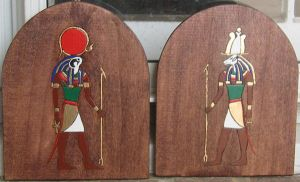 Ra and Khnum by maiem