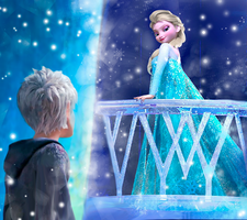 Jack frost and Elsa snow queen OTP by TheWinterHope