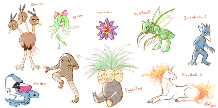 my bros' pokemon by firehorse6