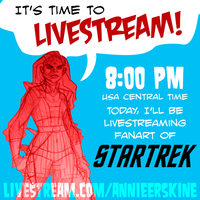 Star Trek Livestream Tonight! by annieawesomesauce