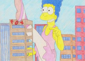 Giantess Marge Ballerina by XxSumRaNdOmGuYxX