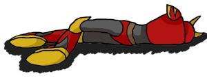QuickMan laying down by SonicGal390