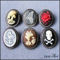Cameo Brooches by 1337-Art