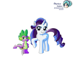 Spike And Rarity by DarkenGales