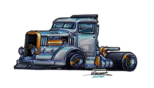 Killer Truck Sketch 4 by vsdesign69
