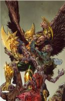 Savage Hawkman cover 5 by DeevElliott