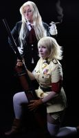 Sir Integra and Seras Victoria by GingerAnneLondon