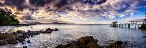 Whispering Waters Panorama by Questavia