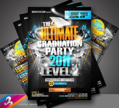 Teen Nite Grad Party Flyer by AnotherBcreation