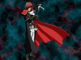 Space Captain Harlock by polarityplus