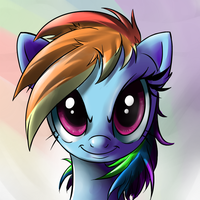Rainbow Dash Portrait by Nac0n